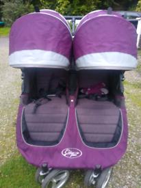 City mini baby jogger Double buggy pram