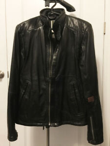 100% Authentic Men GStar Raw Black Leather Jacket