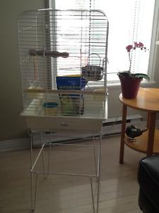 Cage d'oiseaux Hagen avec accessoires et nourriture