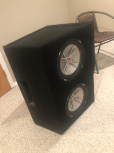 """2 12"""" Kicker Comp VR Subs in Ported Box"""