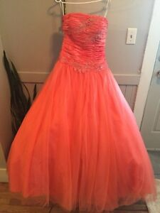 Pink coral prom dress size 8