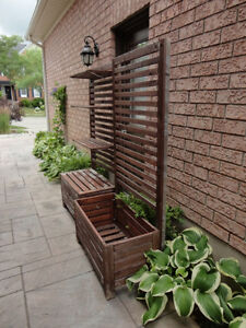 Two Red Cedar Planter Box With Trellis and Shelves -$120.00/ea Kitchener / Waterloo Kitchener Area image 2
