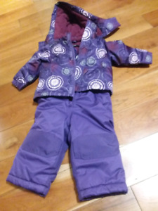 12 to 18 month purple snow suit