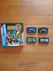 Lot jru Gameboy advance golden sun, fire emblem et mario
