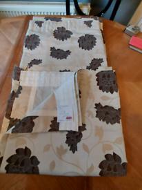 Brown cream curtains 72 x 80 £20