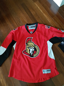 Signed Authentic Ottawa Senators home hockey jersey-Men's XL