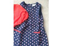 Quilted dress with red top