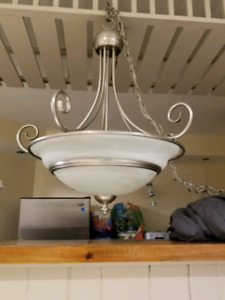 Hanging Brushed Nickle Kitchen / Dining Light Fixture