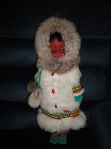 "BEAUTIFUL INUIT DOLL 18"" tall"