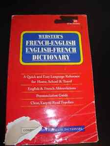 Webster's French-English English-French Dictionary