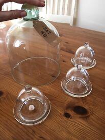 Wedding glass cloches