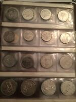 Large book of Canadian coins silver and key dates collection