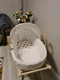 Mothercare moses basket and folding stand
