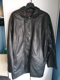 Harrods mens leather coat