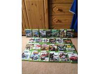 Xbox 360 with 2 controllers and games