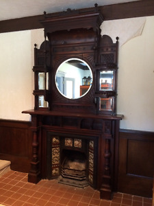 Fire Place handmade Mantle very ornate