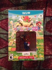 Brand new Mario party  10 +amiibo WiiU big box bundle