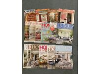 Mixed home decorating magazines