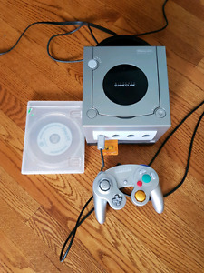 Nintendo GameCube with GameBoy Player & Disc