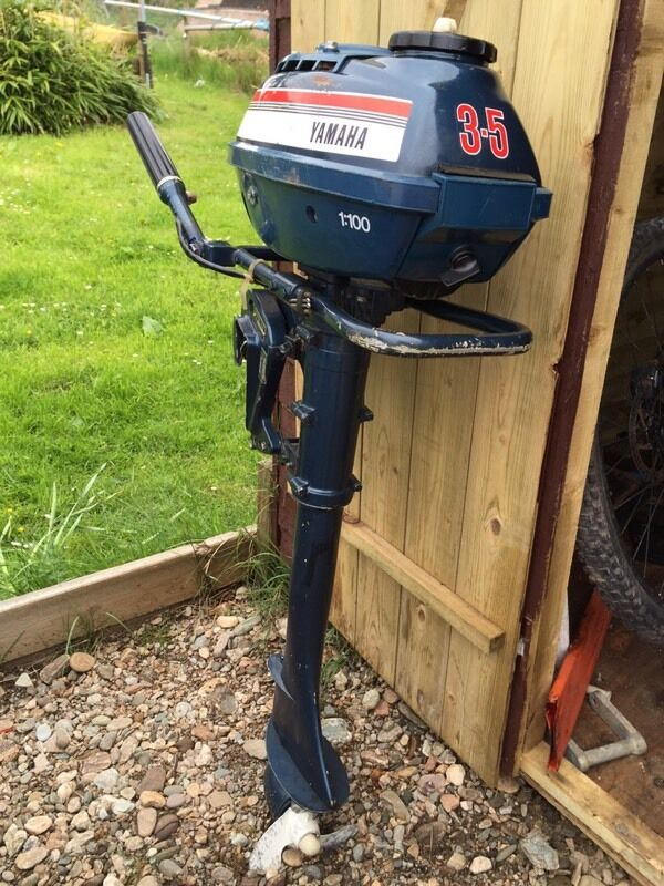 3 5 hp air cooled yamaha outboard long shaft in cairndow for Long shaft trolling motor for sale