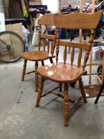 2 chairs.   Great shape. $10. 962-6195