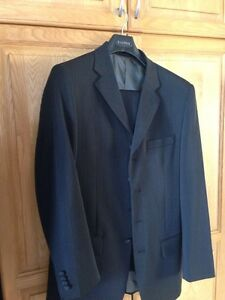 Men's 2 piece suit. Black. Like new worn once.