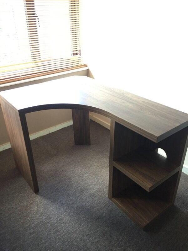 Next Walnut Corner Desk
