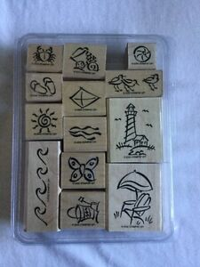 Stampin' Up! – On the Beach- 13 piece wood stamp set (REDUCED) Kingston Kingston Area image 1