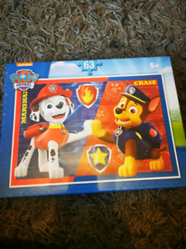 Paw patrol 63 piece puzzle