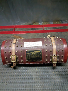 Motorcycle cafe racer leather bag