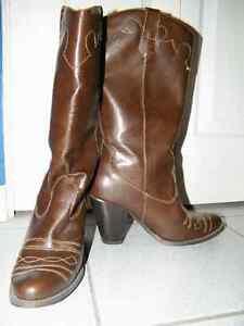 Bottes de cowboy en cuir