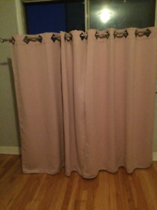"""Solid Pink Color Blackout Windows Curtain 52""""  by 63"""" - 2 Nos"""