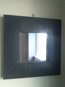 Distressed metal (zinc) mirror.