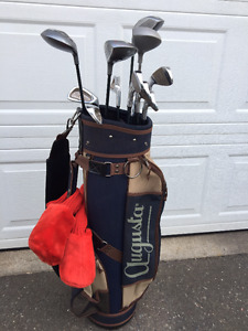 VEUC Women's Gold Clubs with Bag and Cart