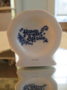 "ADORABLE OLD VINTAGE MINIATURE CHINA ""HOME SWEET HOME"" PLATE"