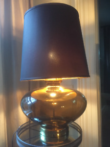 Vintage Green Glass Lamp