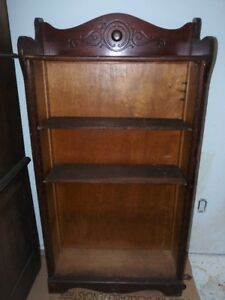 Antique Victorian Solid Wood Bookcase