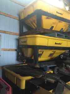 3 snowex salters 2 with controls 2 75oo 1 8500