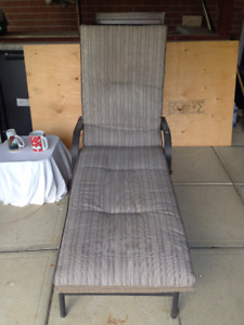 Like New Reclining Lawn/Patio Chair with Cushion