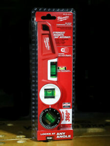 "ToolsMilwaukee 10"" Die Cast Torpedo Level 360° adjustable Vial"