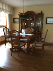 Antique Dining Table + 6 Chairs - Matching Dining set Avail.