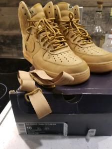 Air Force 1 high 07 Flax sz 10.5 - 100$ OBO