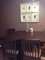 One of a kind kitchen table it has a desk