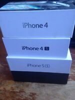 IPhone boxes, $5 each