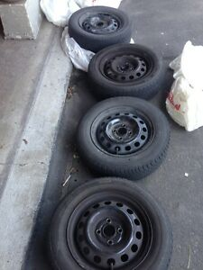 ORIGINAL14 INCH HONDA CIVIC TIRES AND RIMS 185/65/14