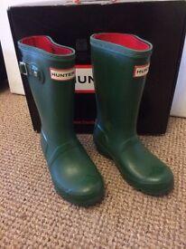 Kids hunter boots size 12