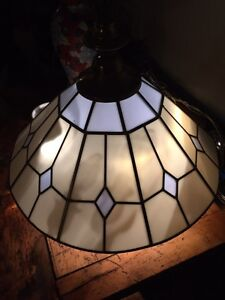 Antique stained glass ceiling hanging lamp light