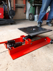 Turntable jack for motorcycles....