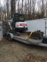 Mini excavator and track loader services