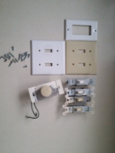 Electrical switches, Dimmer, Wall plates -- FREE